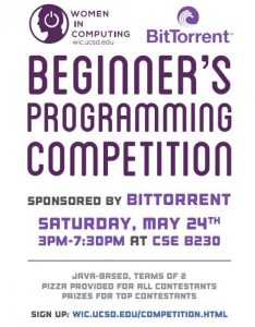 Advertisement for Spring 2014 Competition