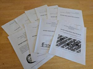 The question packets for each year I was involved in the competition